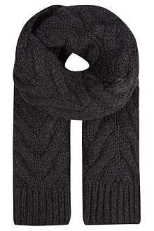 RALPH LAUREN BLACK LABEL Cable knit scarf