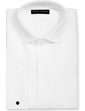 RALPH LAUREN BLACK LABEL Bond pleated double-cuff shirt