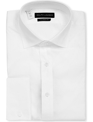 RALPH LAUREN BLACK LABEL Bond tailored-fit double-cuff shirt