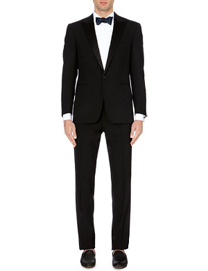RALPH LAUREN BLACK LABEL Anthony satin-lapel wool suit