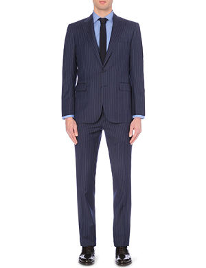 RALPH LAUREN BLACK LABEL All-over pinstripe pattern suit