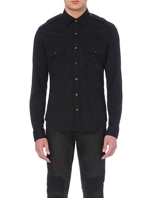RALPH LAUREN BLACK LABEL Military slim-fit shirt