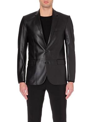 RALPH LAUREN BLACK LABEL Anthony leather sportcoat