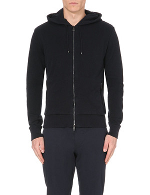 RALPH LAUREN BLACK LABEL Brand-embroidered jersey hoody