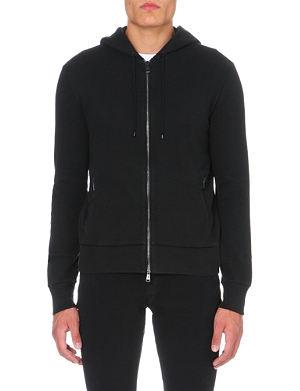 RALPH LAUREN BLACK LABEL Brand-embroidered jersey hoody