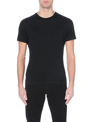 RALPH LAUREN BLACK LABEL Patch-pocket cotton-jersey t-shirt