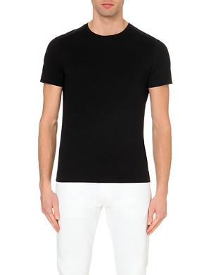 RALPH LAUREN BLACK LABEL Quilted-panel cotton t-shirt