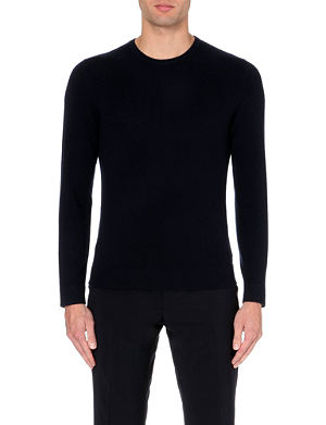 RALPH LAUREN BLACK LABEL Crew-neck cashmere jumper