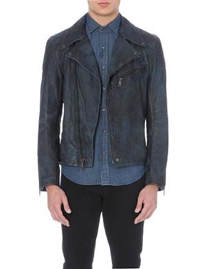 RALPH LAUREN BLACK LABEL Camouflage biker jacket