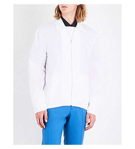 MARNI Zip-up regular-fit cotton shirt (0100+white
