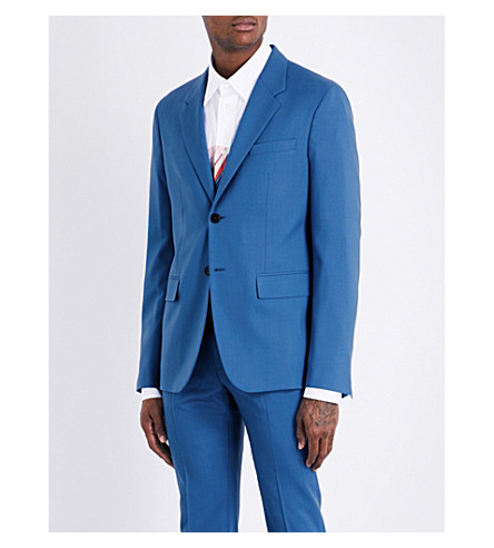 MARNI Regular-fit wool jacket (0520+bluette