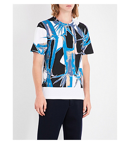 MARNI Jungle-print cotton-jersey T-shirt (0100+white