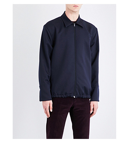 MARNI Point-collar sports-jersey jacket (0511+blue+navy