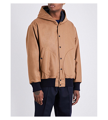 MARNI Hooded stretch-wool jacket (0156+camel
