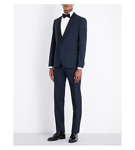 LARDINI Tailored-fit wool tuxedo (Midnight