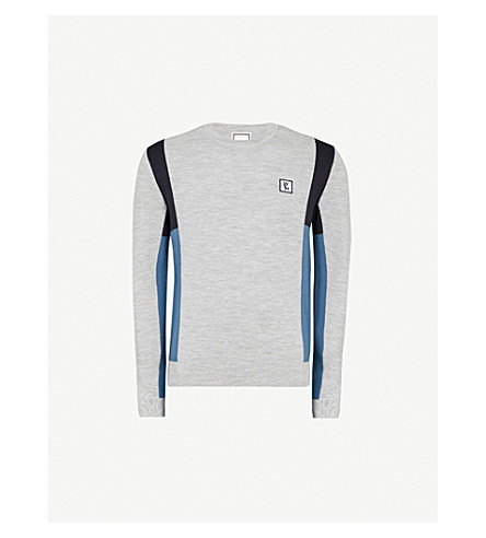 WOOYOUNGMI Colour-block knitted wool jumper (Multi