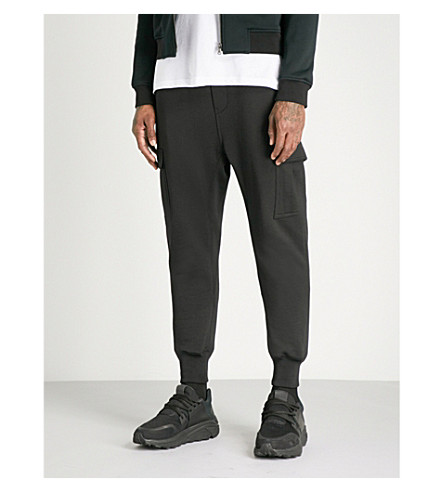 WOOYOUNGMI Skinny cotton-jersey jogging bottoms (Black