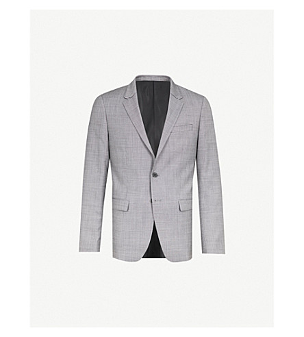WOOYOUNGMI Slim-fit single-breasted wool jacket (Grey