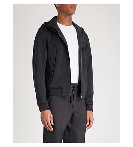 WOOYOUNGMI Zip-up cotton-jersey hoody (Black
