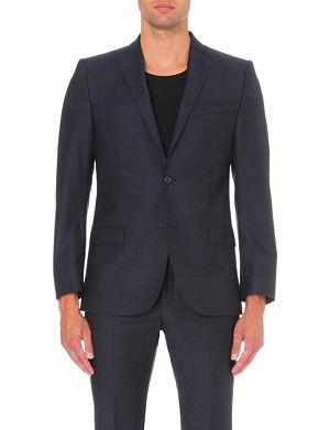 J LINDEBERG Slim-fit single-breasted wool jacket