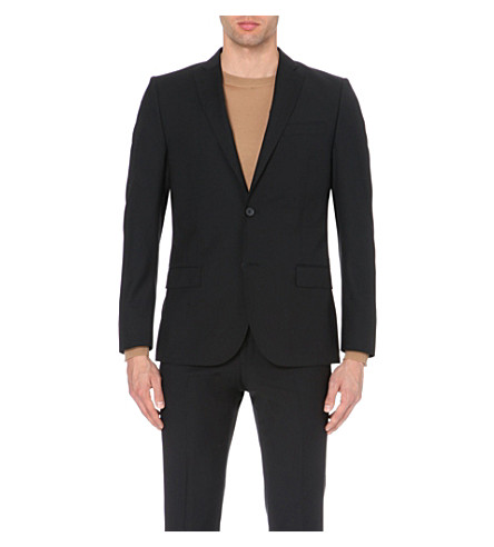 J LINDEBERG Hopper slim-fit wool jacket (Black