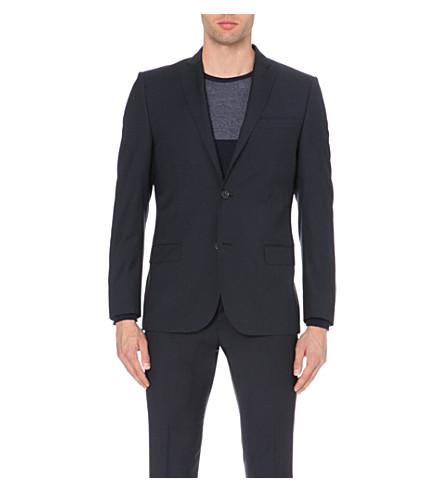 J LINDEBERG Hopper slim-fit wool jacket (Dk+blue