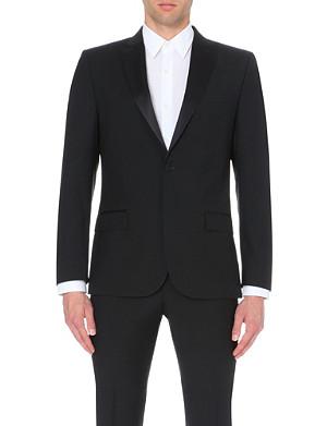 J LINDEBERG Satin-trim wool tuxedo jacket