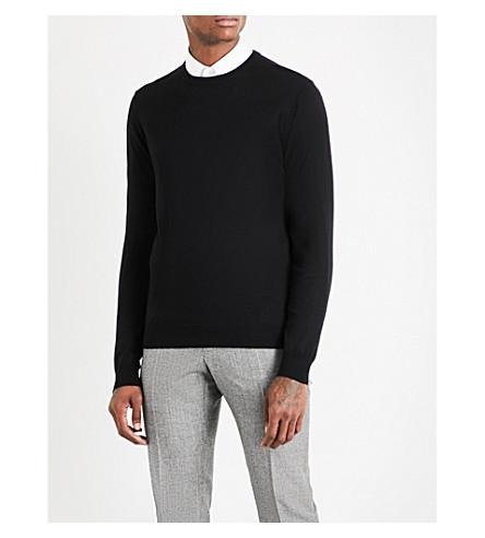 TIGER OF SWEDEN Matias knitted wool jumper (Black