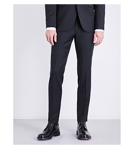 TIGER OF SWEDEN Herris slim-fit wool trousers (Black