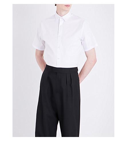 TIGER OF SWEDEN Joar slim-fit cotton-blend shirt (Pure+white
