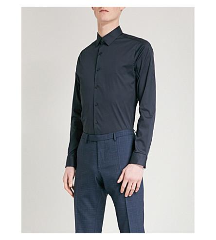 TIGER OF SWEDEN Brodie cotton-blend shirt (Light+ink