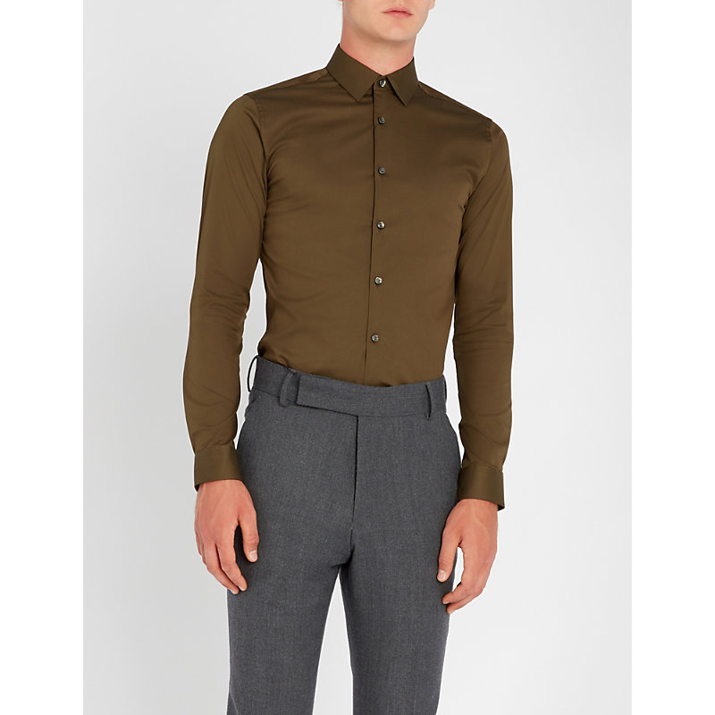 TIGER OF SWEDEN Filbrodie extra slim-fit stretch-cotton shirt