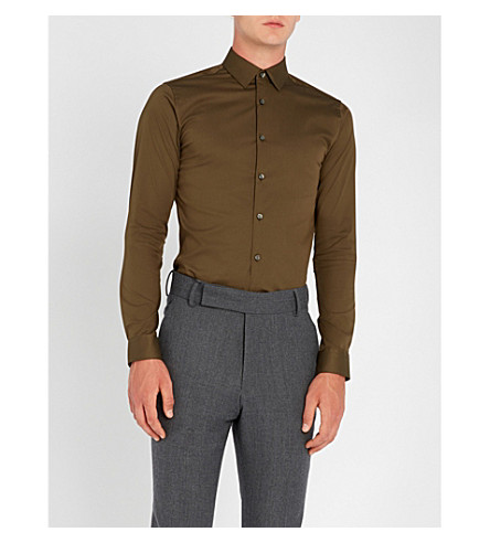 TIGER OF SWEDEN Filbrodie extra slim-fit stretch-cotton shirt (Military