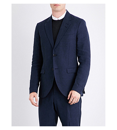 TIGER OF SWEDEN Lamonte regular-fit linen jacket (Blue+function