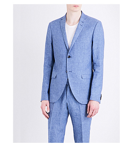 TIGER OF SWEDEN Jil slim-fit linen jacket (Baleine+blue