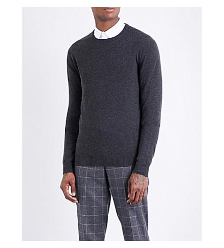 TIGER OF SWEDEN Crew neck wool and cashmere-blend jumper (Grey