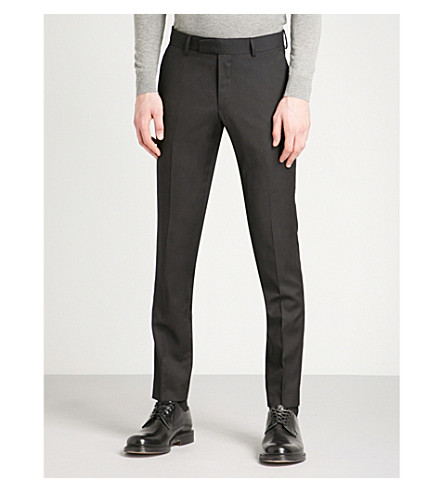 TIGER OF SWEDEN Gordon slim-fit wool trousers (Black
