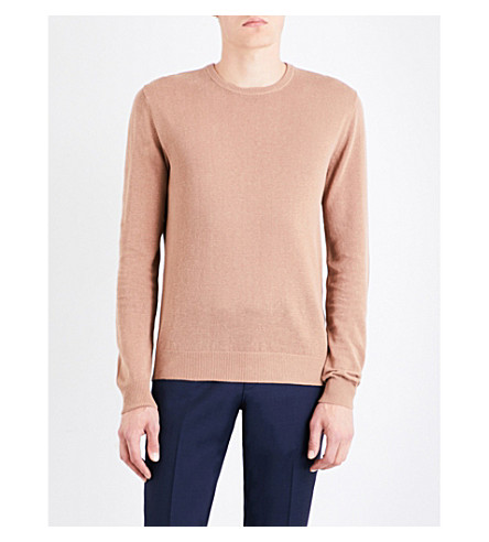 TIGER OF SWEDEN Matias knitted linen and cotton-blend jumper (Meerkat
