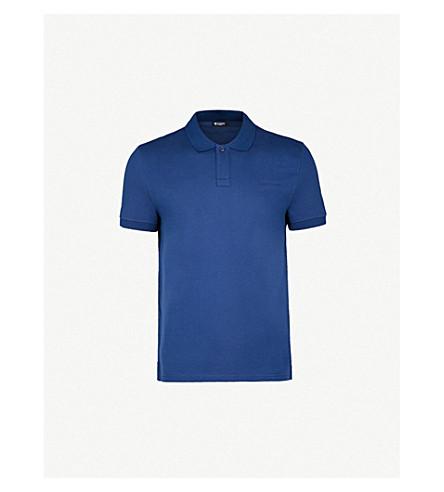 TIGER OF SWEDEN Osron logo-embroidered cotton polo shirt (Blue