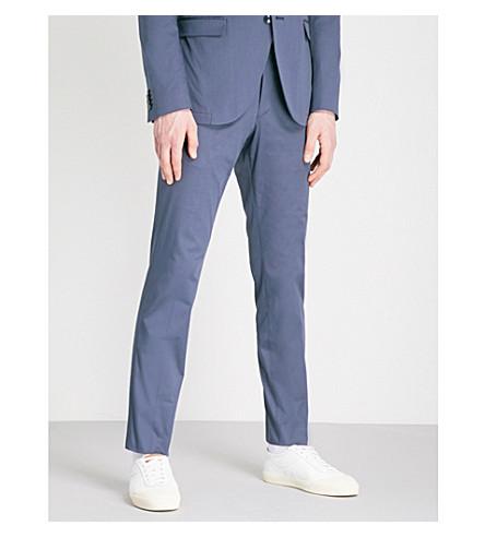 TIGER OF SWEDEN Gordon regular-fit stretch-cotton trousers (Blue