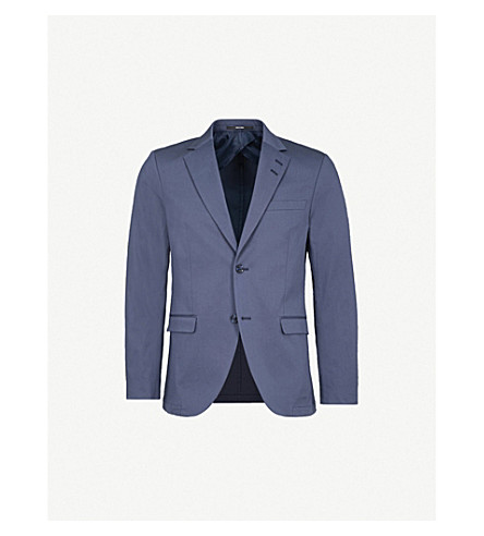 TIGER OF SWEDEN Tailored-fit stretch-cotton jacket (Blue