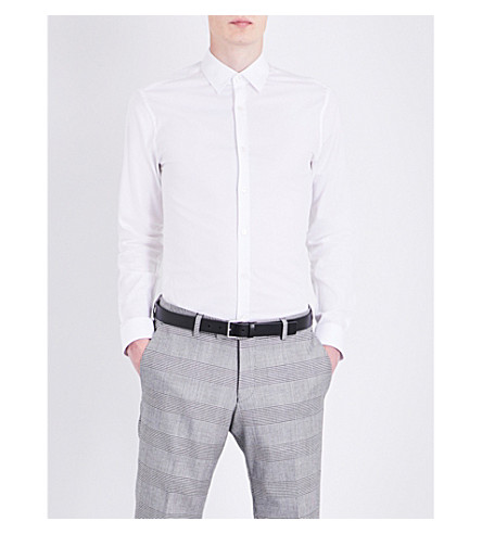 TIGER OF SWEDEN Brodie slim-fit stretch-cotton shirt (Pure+white