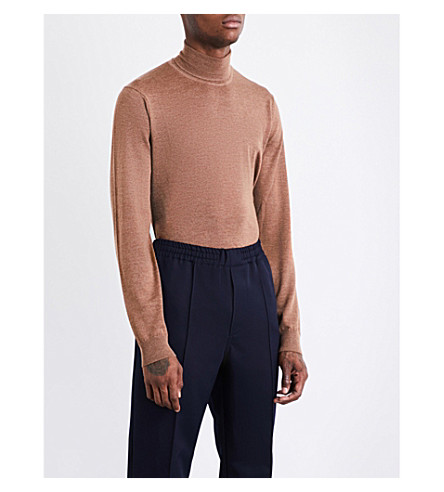 TIGER OF SWEDEN Merinon turtleneck wool jumper (Camel