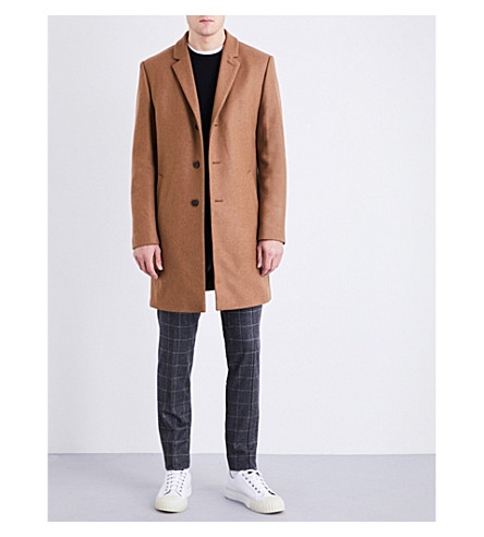 TIGER OF SWEDEN Wool-blend coat (Camel