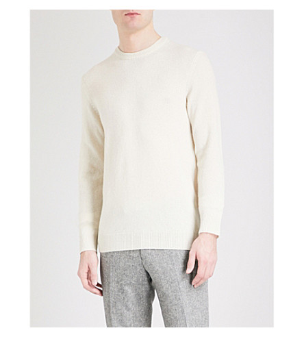 TIGER OF SWEDEN Mattias waffle-knit wool jumper (Cream