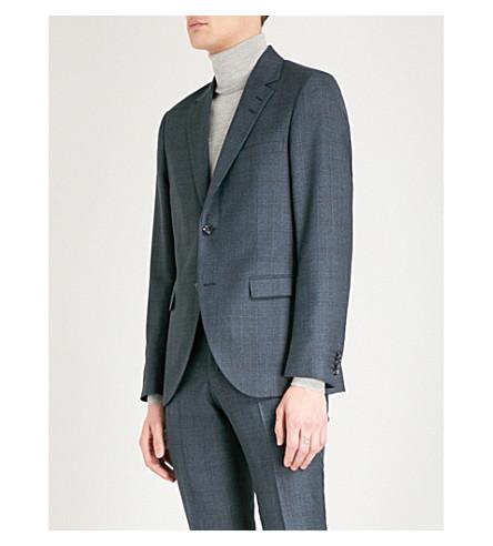 TIGER OF SWEDEN Jil checked regular-fit wool-blend jacket (Navy+1