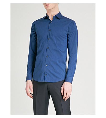 TIGER OF SWEDEN Brodie cotton-blend shirt (Navy+blue