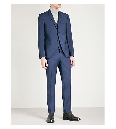 TIGER OF SWEDEN 常规版型合身羊毛套装 (蓝色