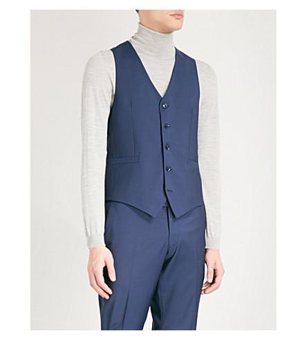 TIGER OF SWEDEN Chauncey wool waistcoat (Blue