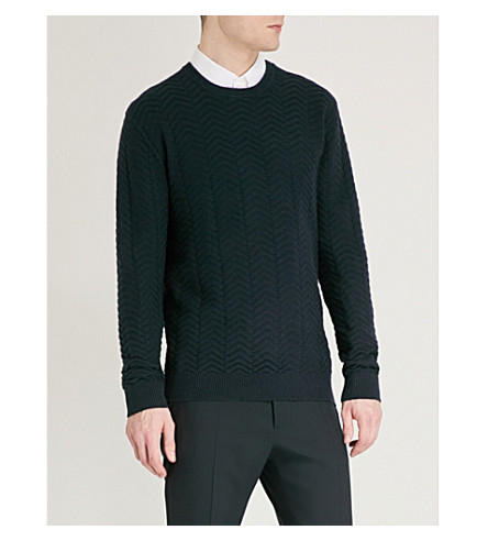 TIGER OF SWEDEN Lanton cotton and cashmere-blend jumper (Light+ink